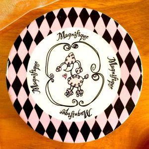 Ceramic coasters in Paris theme